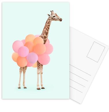 Party Giraffe Set de cartes postales