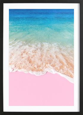 Pink Sand Poster im Holzrahmen