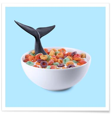 Whale Cereal Poster