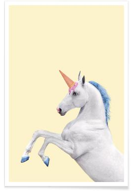 Ice Cream Unicorn Poster