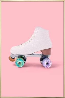 Roller Donut affiche sous cadre en aluminium