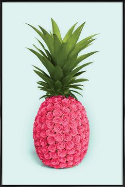 Pineapple Roses Framed Poster