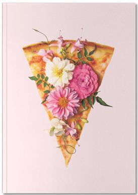 Floral Pizza Carnet de note