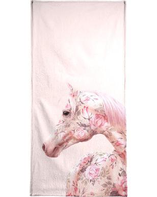 Floral Horse Beach Towel
