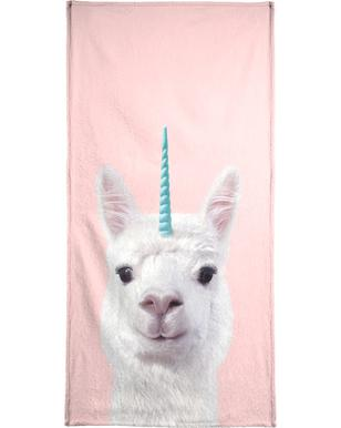 Alpaca Unicorn Beach Towel