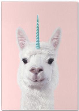 Alpaca Unicorn -Notizblock