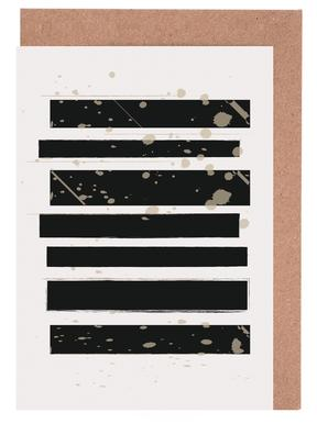Smudged Stripes Greeting Card Set