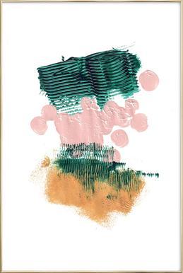 Painting II Poster in Aluminium Frame