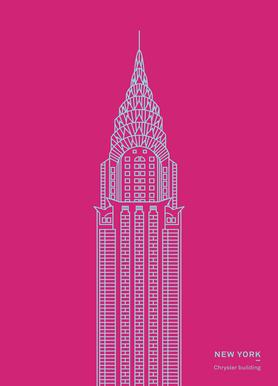 New York Pink Canvas print