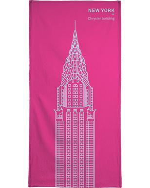 New York Pink Serviette de bain