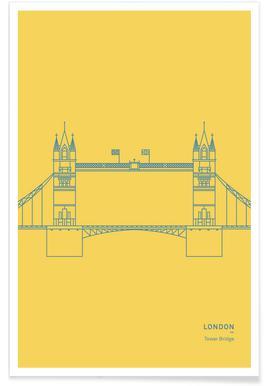 London Tower Bridge Affiche