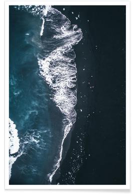 Diamant strand - blauwe foto Poster