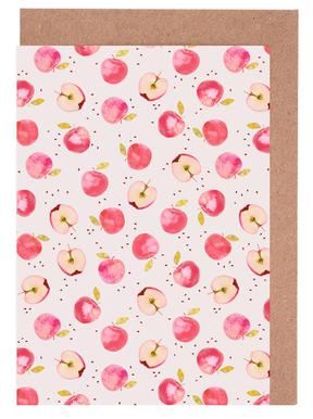 Apples greeting cards juniqe apple kind of style greeting card set m4hsunfo