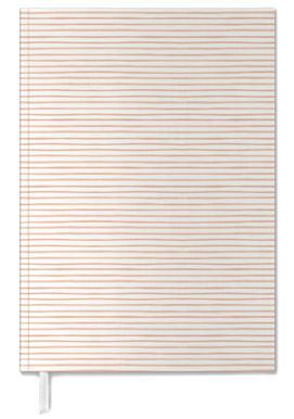 Blush Watercolor Stripes agenda