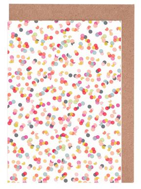 Confetti Mix Pink Set de cartes de vœux