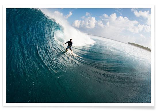 Maldives Surf Affiche