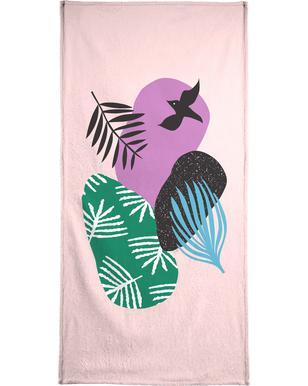 Love Birds in Pink Hand & Bath Towel