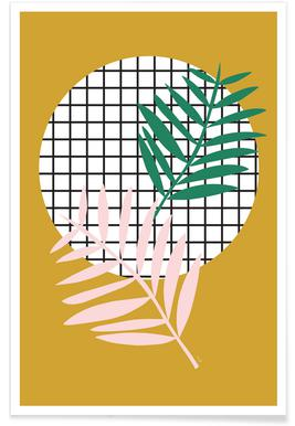 Palm Leaves in Mustard Poster