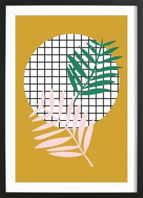 Palm Leaves in Mustard Framed Print