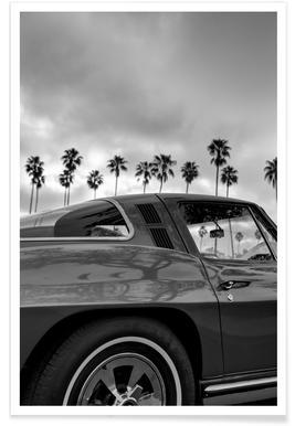 California Corvette poster