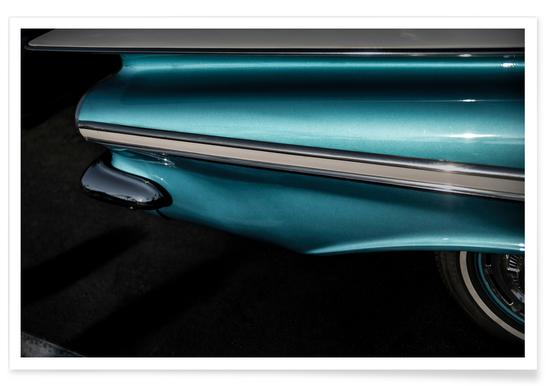 Impala Turquoise Photograph Poster