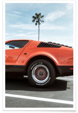 1975 Orange Corvette Photograph Poster