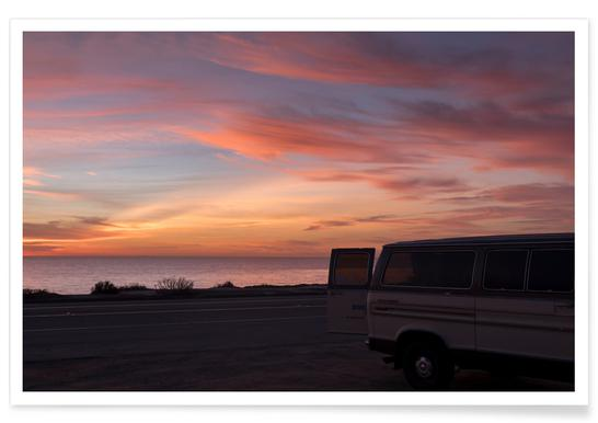 Cali Sunset Photograph Poster