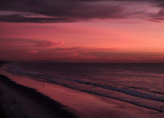 Sunset Walker Canvas Print