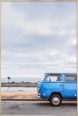 Blue Lagoon Poster im Alurahmen