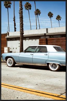 Buick Blue Poster im Kunststoffrahmen