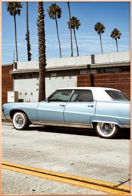 Buick Blue Plakat i aluminiumsramme