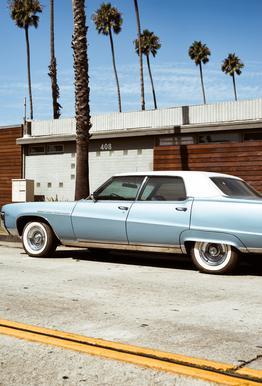 Buick Blue Aluminium Print