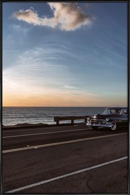 Cadillac Sunset Cruise I Poster in Standard Frame