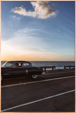 Cadillac Sunset Cruise II Plakat i aluminiumsramme
