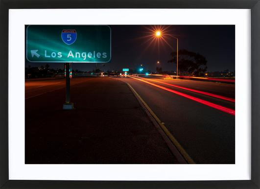 I Am Going to LA and Become a Star Poster in Wooden Frame
