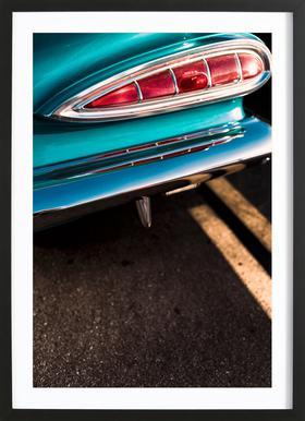 Impala Colors Poster im Holzrahmen