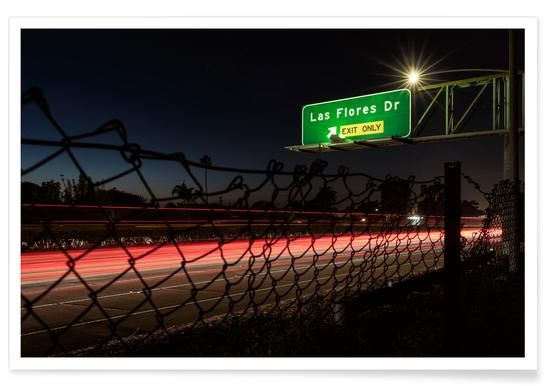 Interstate 5 Sunset Poster