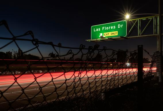 Interstate 5 Sunset Acrylic Glass Print