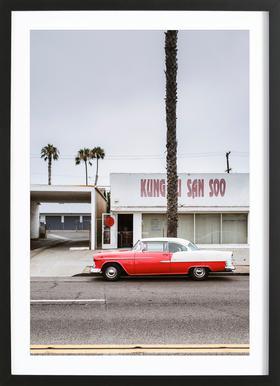 Kung Fu Bel Air Poster in houten lijst