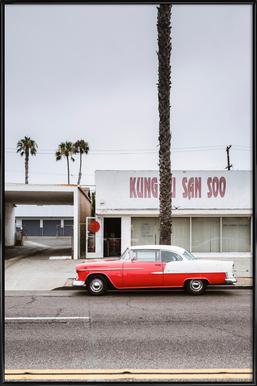 Kung Fu Bel Air Poster in kunststof lijst