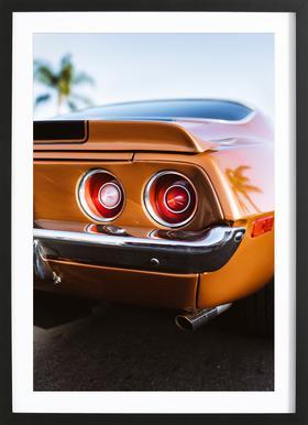 LA Camaro Poster in houten lijst