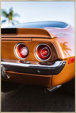 LA Camaro Poster in aluminium lijst