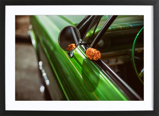 Lowrider Marigold Poster in Wooden Frame