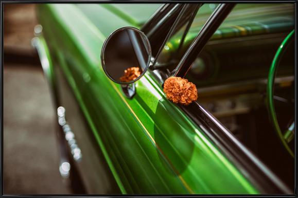 Lowrider Marigold -Bild mit Kunststoffrahmen