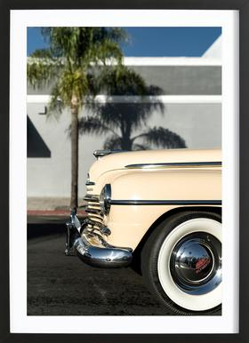 San Diego Plymouth Poster in Wooden Frame