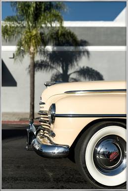 San Diego Plymouth Poster im Alurahmen