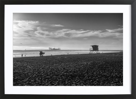 San Diego Surf -Bild mit Holzrahmen