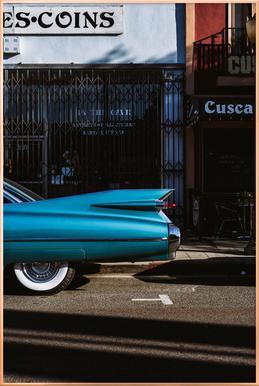 Turquoise Fins affiche sous cadre en aluminium