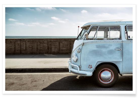 Wolfsburg Surf Blue Horizon -Poster
