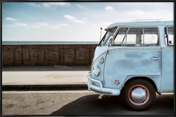 Wolfsburg Surf Blue Horizon Poster im Kunststoffrahmen